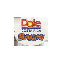 Dole BANINI  22 x 18,1 mm paper before 2012 M Costa Rica unique