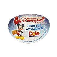Dole Disneyland  Joue sur www.dole.fr  28,8 x 20 mm paper before 2012 AA unique