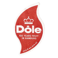 Dole 150 YEARS FRUIT IN HAMBURG click & win dole.eu  20,8 x 35,7 mm paper 2013 NB unique