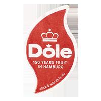 Dole 150 YEARS FRUIT IN HAMBURG click & win dole.eu  20,8 x 35,7 mm paper 2013 NB unique