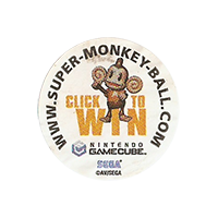 Dole CLICK TO WIN www.super-monkey-ball.com  25,3 x 25,3 mm paper 2012 KČ unique