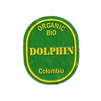 DOLPHIN ORGANIC BIO  21,8 x 26,5 mm paper before 2012 Colombia unique