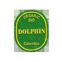 DOLPHIN ORGANIC BIO  21,8 x 26,5 mm paper before 2012 Colombia unique