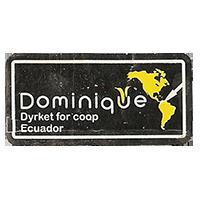 Dominique Dyrket for coop  36,3 x 18,2 mm paper 2012 M Ecuador unique
