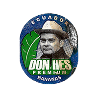 DON HES PREMIUM BANANAS  22,2 x 26,5 mm paper 2015 KT Ecuador unique