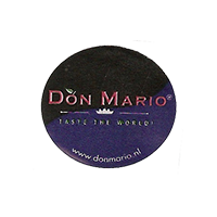 DON MARIO TASTE THE WORLD! www.donmario.nl  24,5 x 22 mm paper before 2012 J unique