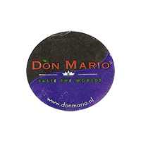 DON MARIO TASTE THE WORLD! www.donmario.nl  24,5 x 22,1 mm paper 2012 M unique