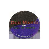 DON MARIO TASTE THE WORLD! www.donmario.nl  24,5 x 22,1 mm paper 2012 M unique