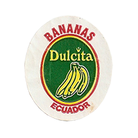 Dulcita BANANAS  25 x 29,5 mm paper before 2012 Ecuador unique