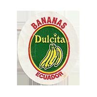 Dulcita BANANAS  25 x 29,5 mm paper before 2012 Ecuador unique