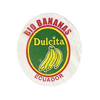 Dulcita  BIO BANANAS  25 x 28,5 mm paper before 2012 NB Ecuador unique