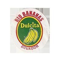Dulcita  BIO BANANAS  25 x 28,5 mm paper before 2012 NB Ecuador unique