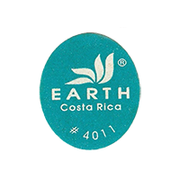 EARTH # 4011  22 x 25,3 mm paper before 2012 TL Costa Rica unique