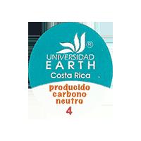 EARTH UNIVERSIDAD producido carbono neutro 4  22 x 25,3 mm paper before 2012 TL Costa Rica unique