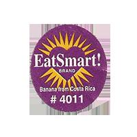 EatSmart! BRAND Banana from Costa Rica # 4011  22 x 25,1 mm paper 2012 KČ Costa Rica unique