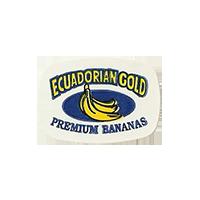 ECUADORIAN GOLD PREMIUM BANANAS  23,8 x 16,9 mm paper before 2012 Ecuador unique