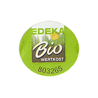 EDEKA Bio  WERTKOST 803265  23,8 x 22 mm paper before 2012 NB unique