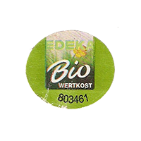 EDEKA Bio WERTKOST 803461  24,7 x 21,9 mm paper before 2012 TL unique
