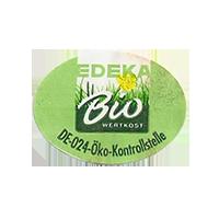 EDEKA Bio WERTKOST DE-024.Oko-Kontrollstelle  27,3 x 20,3 mm paper 2011 NB unique