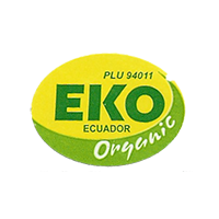 EKO ORGANIC PLU 94011  27,5 x 20,3 mm paper before 2012  Ecuador unique