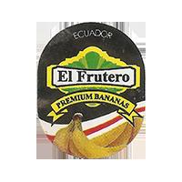 El Frutero PREMIUM BANANAS  21,4 x 26,8 mm paper 2016 JK Ecuador unique