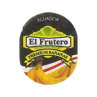 El Frutero PREMIUM BANANAS  21,3 x 26,8 mm paper 2017 DP Ecuador unique