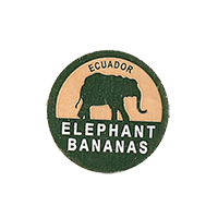 ELEPHANT BANANAS  22 x 22 mm paper before 2012  Ecuador unique