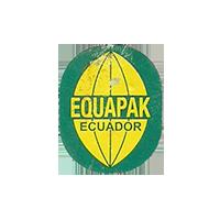 EQUAPAK  18,4 x 22,9 mm paper 2012 DK Ecuador unique