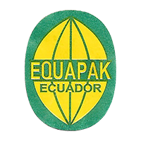 EQUAPAK  18 x 23,5 mm paper 2015 J Ecuador unique