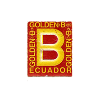 GOLDEN B  18 x 22 mm paper before 2012 Ecuador unique