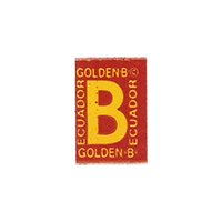 GOLDEN B  12,7 x 18,7 mm paper before 2012 Ecuador unique