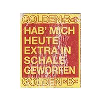 """GOLDEN """"B"""" HAB' MICH HEUTE EXTRA IN SCHALE GEWORFEN  18 x 22,1 mm paper 2015 WF unique"""