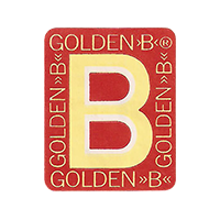 "GOLDEN ""B""  17,7 x 22 mm paper 2016 CC unique"