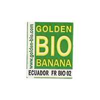 GOLDEN BIO BANANA www.golden-bio.com FR BIO 02  18,1 x 22,2 mm paper before 2012  Ecuador unique