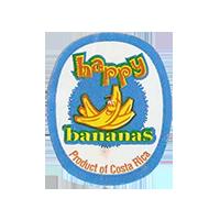happy bananas Product of Costa Rica  22,3 x 27,2 mm paper 2012 M Costa Rica unique
