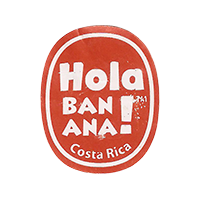 Hola BANANA!  20,1 x 24,9 mm paper 2016 PM Costa Rica unique