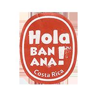 Hola BANANA!  20,1 x 24,9 mm paper 2016 PM Costa Rica unique