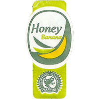 Honey Banana RAINFOREST ALLIANCE CERTIFIED  44,8 x 22 mm paper 2017 M unique