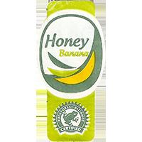 Honey Banana RAINFOREST ALLIANCE CERTIFIED  44,8 x 22 mm paper 2017 M unique