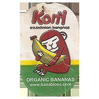 Kony ecuadorian bananas ORGANIC BANANAS www.banabiosa.com  20,1 x 32 mm paper 2017 J unique