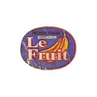 Le Fruit PREMIUM BANANA  22,5 x 17,6 mm paper before 2012 TL Ecuador unique