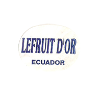 LEFRUIT D'OR  23,7 x 18,2 mm paper before 2012 J Ecuador unique