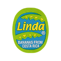 Linda BANANAS FROM COSTA RICA  22,3 x 27,6 mm paper 2016 CC Costa Rica unique