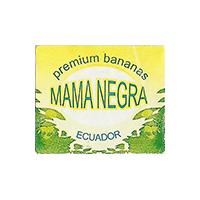MAMA NEGRA premium bananas  21,2 x 17,9 mm paper 2014 M Ecuador unique