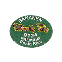 Naturally Tasty BANANEN 0124 PREMIUM  27 x 20,6 mm paper before 2012 NB Costa Rica unique