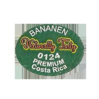 Naturally Tasty BANANEN 0124 PREMIUM  27 x 20,6 mm paper before 2012 NB Costa Rica unique