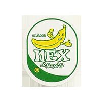 nex  BANANAS  22 x 27 mm paper before 2012 TL Ecuador unique