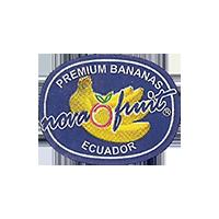 nova fruit PREMIUM BANANAS  23,5 x 18,6 mm paper 2014 M Ecuador unique