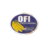 OFI FRESH BANANA  0 x 0 mm paper 2017 ŽT Phillippines unique