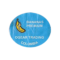 OGEAR TRADING PREMIUM BANANAS  27 x 22,6 mm paper 2013 J Colombia unique